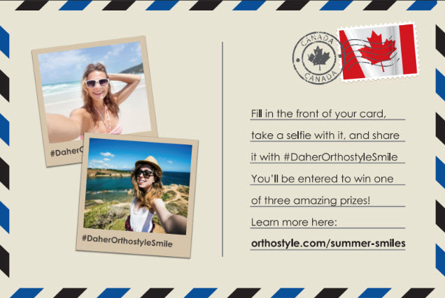 Summer Selfies Contest, Daher Orthodontics in Calgary